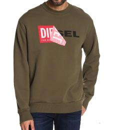 Olive Green Samy Crew Neck Sweatshirt