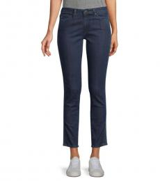 AG Adriano Goldschmied Indigo Mid-Rise Ankle Jeans
