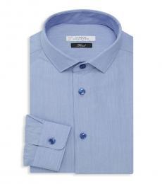 Blue Trend-Fit Dress Shirt