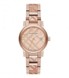 Rose Gold Check Watch