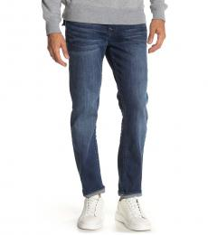 True Religion Blue Rocco Flap Straight Leg Jeans