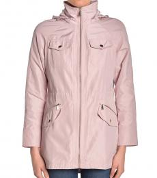 Michael Kors Light Pink Missy Hooded Anorak