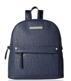 Navy Bubble Novelty Medium Backpack