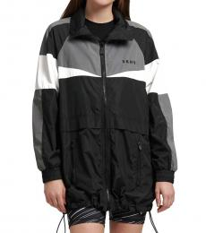DKNY Black Reflective Windbreaker Jacket