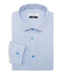 Light Blue Logo Embroidered Shirt
