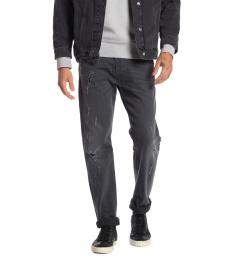 Dark Grey Belther Distressed Slim Jeans