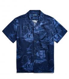 Boys Sailboat Print Shirt