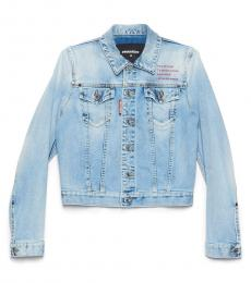 Dsquared2 Light Blue Logo Denim Jacket
