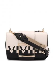 Black & White Logo Large Crossbody
