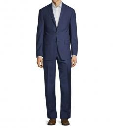 Blue Slim-Fit Windowpane Suit