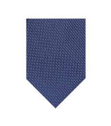 Blue Dotted Square Tie