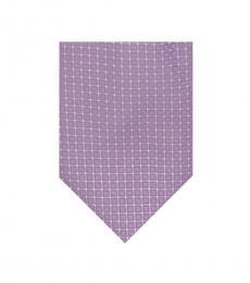 Michael Kors Purple-Grey Square Silk Tie