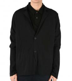 Black Virgin Wool Cardigan
