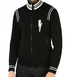 Neil Barrett Black Thunder Embroidered Jacket