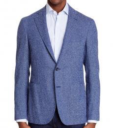 Canali Blue Kei Trim Fit Sport Coat