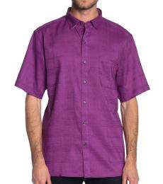 Dark Purple-Costa Tautira Short Sleeve Shirt