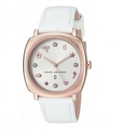 Marc Jacobs White Mandy Crystal Watch
