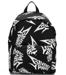 Givenchy Black Logo Print Large Backpack