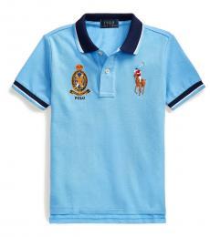 Ralph Lauren Little Boys Blue Lagoon Big Pony Crest Polo