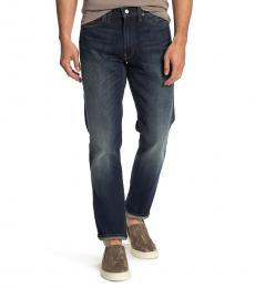Lucky Brand Dark Blue Slim Straight Leg Jeans