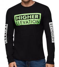 Black Long Sleeve Graphic T-Shirt