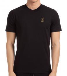 McQ Alexander McQueen Black Swallow Crewneck T-Shirt