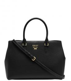 DKNY Black Whitney East West Large Satchel