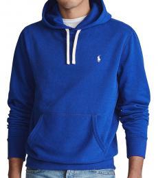 Ralph Lauren Royal Blue Cotton Fleece Hoodie