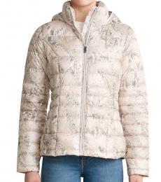 Calvin Klein Blush Snake Hooded Packable Jacket