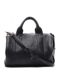 Alexander Wang Black/Dark Grey Solid Medium Satchel