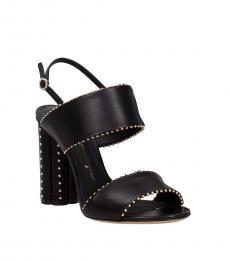 Salvatore Ferragamo Black Slingback Leather Heels