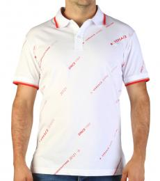 Versace Jeans White Front Logo Polo