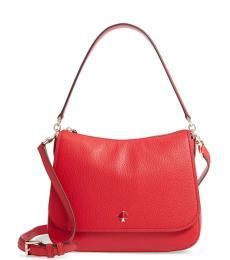 Kate Spade Hot Chili Red Jackson Street Colette Large Shoulder Bag