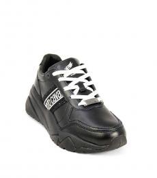 Roberto Cavalli Black Side Logo Sneakers