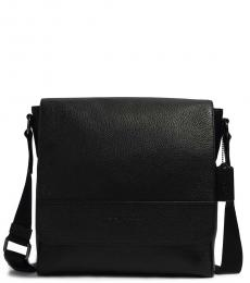 Coach Black Houston Map Medium Messenger Bag