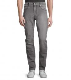7 For All Mankind Grey Straight Jeans