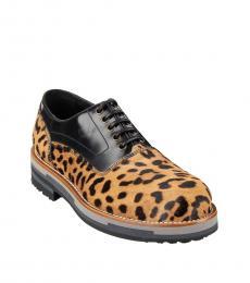 Dolce & Gabbana Leopard Print Leather Lace Ups