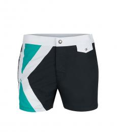 Karl Lagerfeld Black Logo Swim Trunks