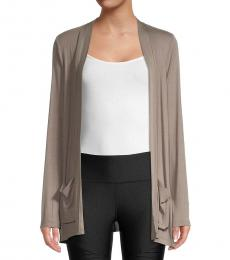 DKNY Cool Burst Ribbed Open Front Cardigan