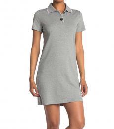 Calvin Klein Grey Polo Shirt Dress