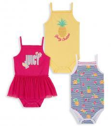 Juicy Couture 3 Piece Bodysuit Set (Baby Girls)