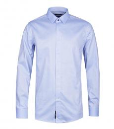 Hugo Boss Blue Jivan Slim Fit Polkadot Shirt