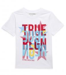True Religion Little Boys White True Star Graphic T-Shirt