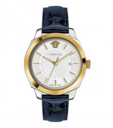 Versace Blue Gold Icon Classic Watch