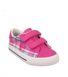 Ralph Lauren Baby Girls Pink Plaid Sneakers