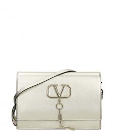 Valentino Garavani Pale Gold V Case Medium Crossbody