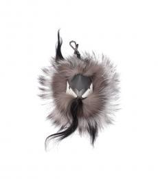 Fendi Grey Monster Bug Key Holder