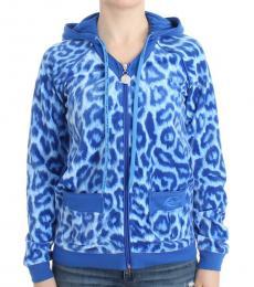 Blue Leopard Print Jacket
