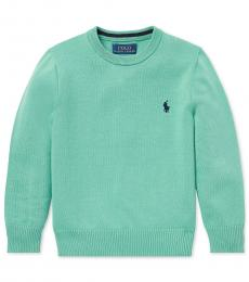 Ralph Lauren Little Boys Green Crew-Neck Sweater