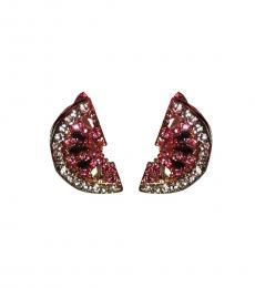 Betsey Johnson Pink Timeless Watermelon Earrings